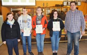 2. Platz Mannschaft Luftgewehr Jugend