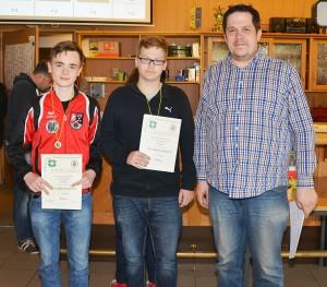 2. Platz Mannschaft Luftpistole Jugend