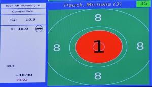 Michelle Hauck 1. Schuss